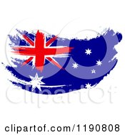 Clipart Of A Painted Australian Flag Royalty Free CGI Illustration