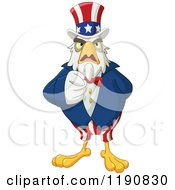 Cartoon Of A Pointing Intimidating Uncle Sam Bald Eagle Royalty Free Vector Clipart