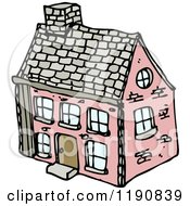 Cartoon Of A Brick House Royalty Free Vector Illustration