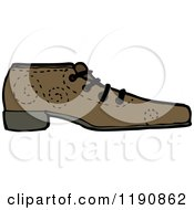 Cartoon Of A Mans Leather Shoe Royalty Free Vector Illustration