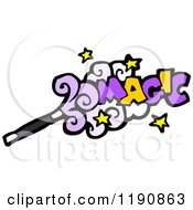 Cartoon Of A Magic Wand Royalty Free Vector Illustration by lineartestpilot