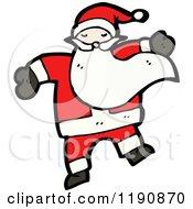 Cartoon Of Santa Claus Royalty Free Vector Illustration
