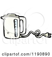 Cartoon Of An Electric Blender Royalty Free Vector Illustration by lineartestpilot