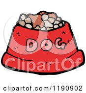 Cartoon Of A Dog Food Bowl Royalty Free Vector Illustration by lineartestpilot