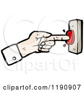 Poster, Art Print Of Hand Pushing A Red Button