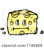 Cartoon Of Swiss Cheese Royalty Free Vector Illustration