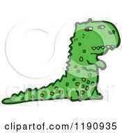 Cartoon Of A Dinosaur Royalty Free Vector Illustration