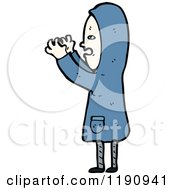 Cartoon Of A Child Scaring Someone Royalty Free Vector Illustration