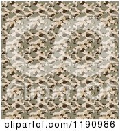 Clipart Of A Seamless Desert Military Camouflage Pattern Royalty Free CGI Illustration
