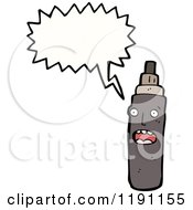 Cartoon Of A Spray Can Speaking Royalty Free Vector Illustration