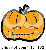 Cartoon Of A Jack O Lantern Royalty Free Vector Illustration by lineartestpilot