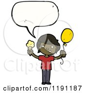 Cartoon Of An African American Child Royalty Free Vector Illustration by lineartestpilot