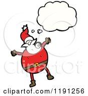 Cartoon Of Santa Claus Thinking Royalty Free Vector Illustration
