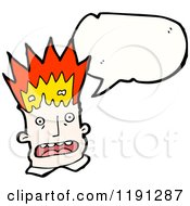 Cartoon Of A Man Blowing His Top Speaking Royalty Free Vector Illustration