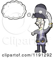 Cartoon Of A Pirate Thinking Royalty Free Vector Illustration