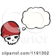 Poster, Art Print Of Skull Wearing A Santa Hat