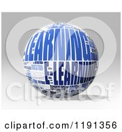 Clipart Of A 3d Learning Word Collage Globe Over Shading Royalty Free CGI Illustration by MacX