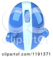 Clipart Of A 3d Blue Computer Mouse Mascot Pointing At Itself Royalty Free CGI Illustration