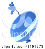 Clipart Of A 3d Blue Computer Mouse Mascot Doing A Cartwheel Royalty Free CGI Illustration