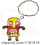 Cartoon Of A Witch Doctor Thinking Royalty Free Vector Illustration