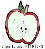 Cartoon Of An Apple Half Royalty Free Vector Illustration