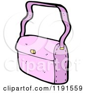 Cartoon Of A Pink Purse Royalty Free Vector Illustration by lineartestpilot