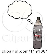 Cartoon Of A Spraypaint Can Thinking Royalty Free Vector Illustration by lineartestpilot