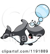 Cartoon Of A Talking Orca Killer Whale Royalty Free Vector Clipart