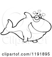 Cartoon Of A Black And White Loving Orca Killer Whale Royalty Free Vector Clipart by Cory Thoman