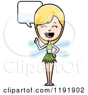Cartoon Of A Talking Fairy Royalty Free Vector Clipart
