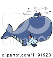 Cartoon Of A Drunk Whale Royalty Free Vector Clipart