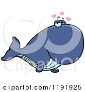 Cartoon Of A Loving Whale Royalty Free Vector Clipart