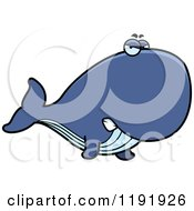 Cartoon Of A Mad Whale Royalty Free Vector Clipart by Cory Thoman