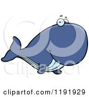 Cartoon Of A Happy Whale Royalty Free Vector Clipart