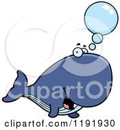 Cartoon Of A Talking Whale Royalty Free Vector Clipart by Cory Thoman