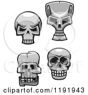 Poster, Art Print Of Grayscale Skulls
