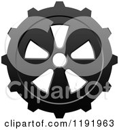 Clipart Of A Black And White Gear Cog Wheel 13 Royalty Free Vector Illustration