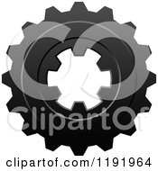 Clipart Of A Black And White Gear Cog Wheel 11 Royalty Free Vector Illustration