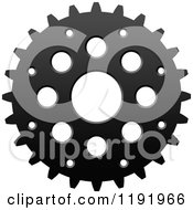 Clipart Of A Black And White Gear Cog Wheel 9 Royalty Free Vector Illustration