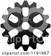 Clipart Of A Black And White Gear Cog Wheel 12 Royalty Free Vector Illustration