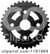 Clipart Of A Black And White Gear Cog Wheel 15 Royalty Free Vector Illustration