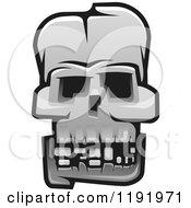 Poster, Art Print Of Grayscale Skull 3