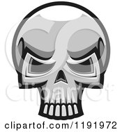 Poster, Art Print Of Grayscale Skull