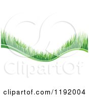 Clipart Of A Green Grass Wave 3 Royalty Free Vector Illustration