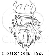 Cartoon Of A Happy Black And White Male Viking Warrrior Face With A Helmet And Beard Royalty Free Vector Clipart by Vector Tradition SM