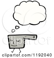 Cartoon Of A Cooking Pan Thinking Royalty Free Vector Illustration