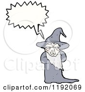 Cartoon Of A Wizard Speaking Royalty Free Vector Illustration