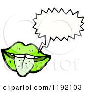 Cartoon Of Lips Speaking Royalty Free Vector Illustration