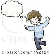 Cartoon Of A Boy Thinking Royalty Free Vector Illustration