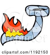 Cartoon Of A Tie Burning Royalty Free Vector Illustration by lineartestpilot